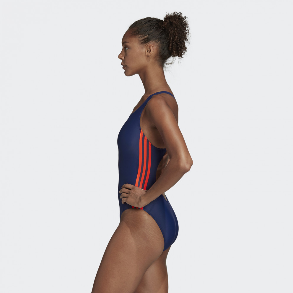Adidas Women'S Athly V 3-Stripes Swimsuit