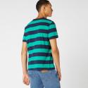 Wrangler Men's Short SLeeve Stripe Logo Tee