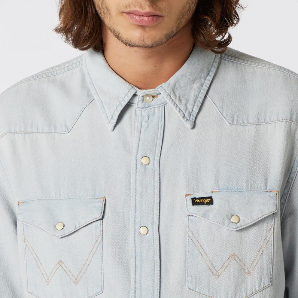 Wrangler Indigo Icons 27MW Western Men's Dress Shirt
