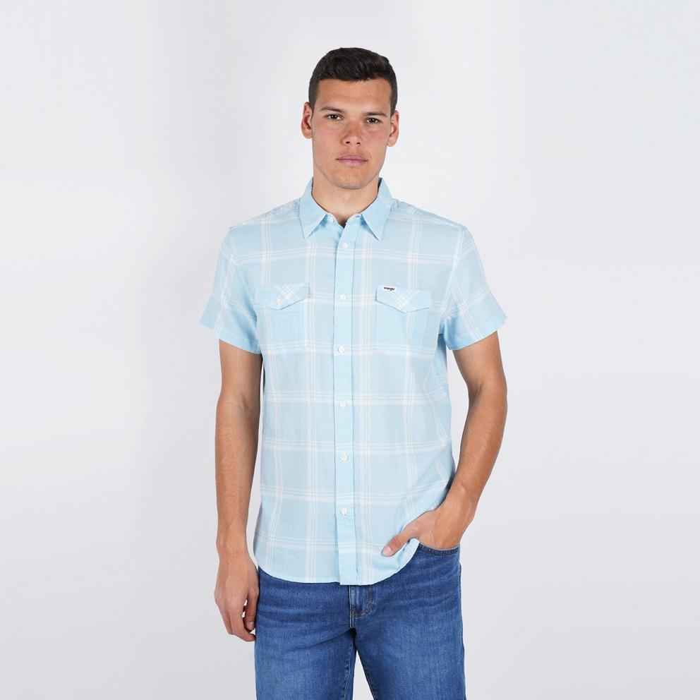 Wrangler Men's Short SLeeve 2 Pkt Flap Shirt