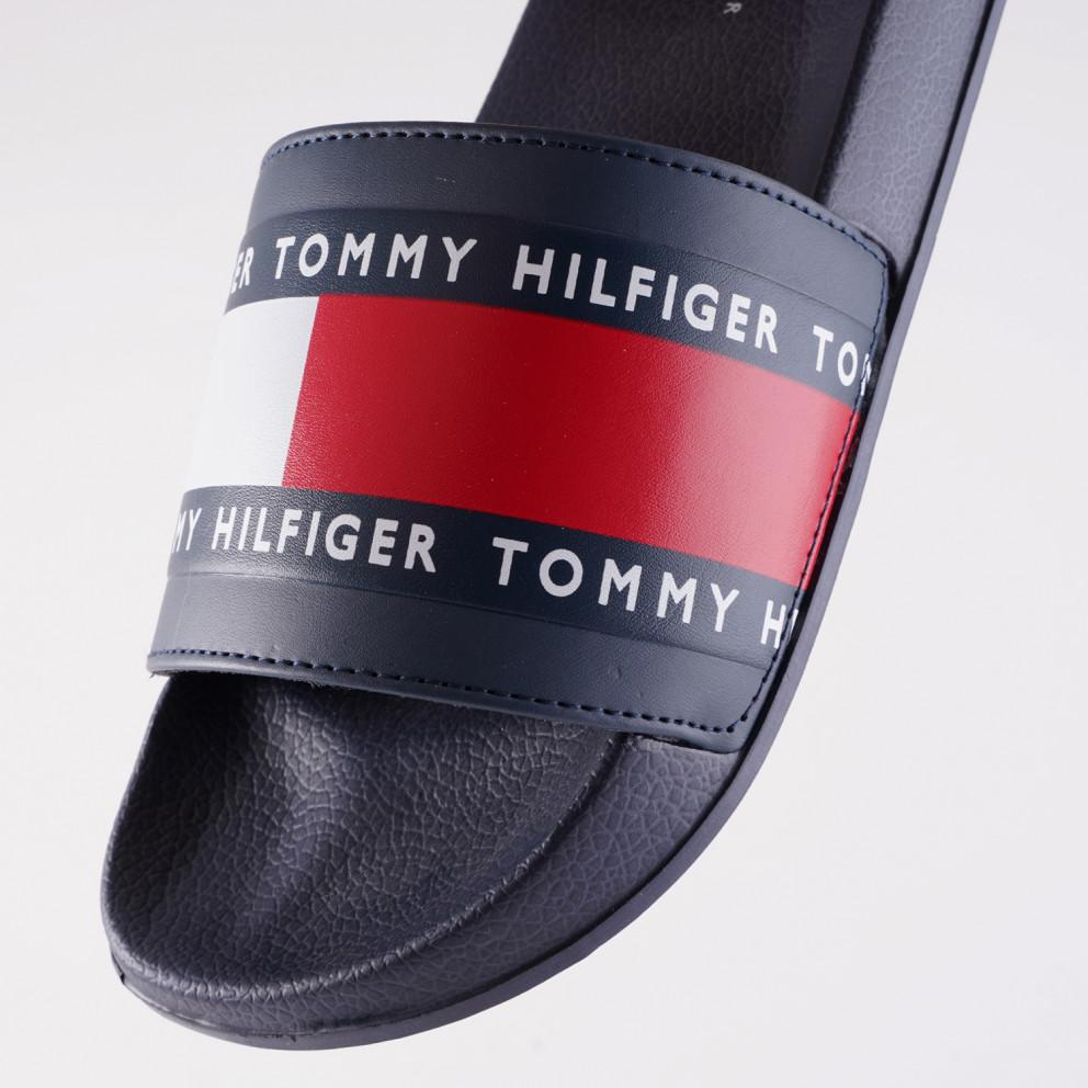 Tommy Jeans Youth Flag Logo Pool Slides