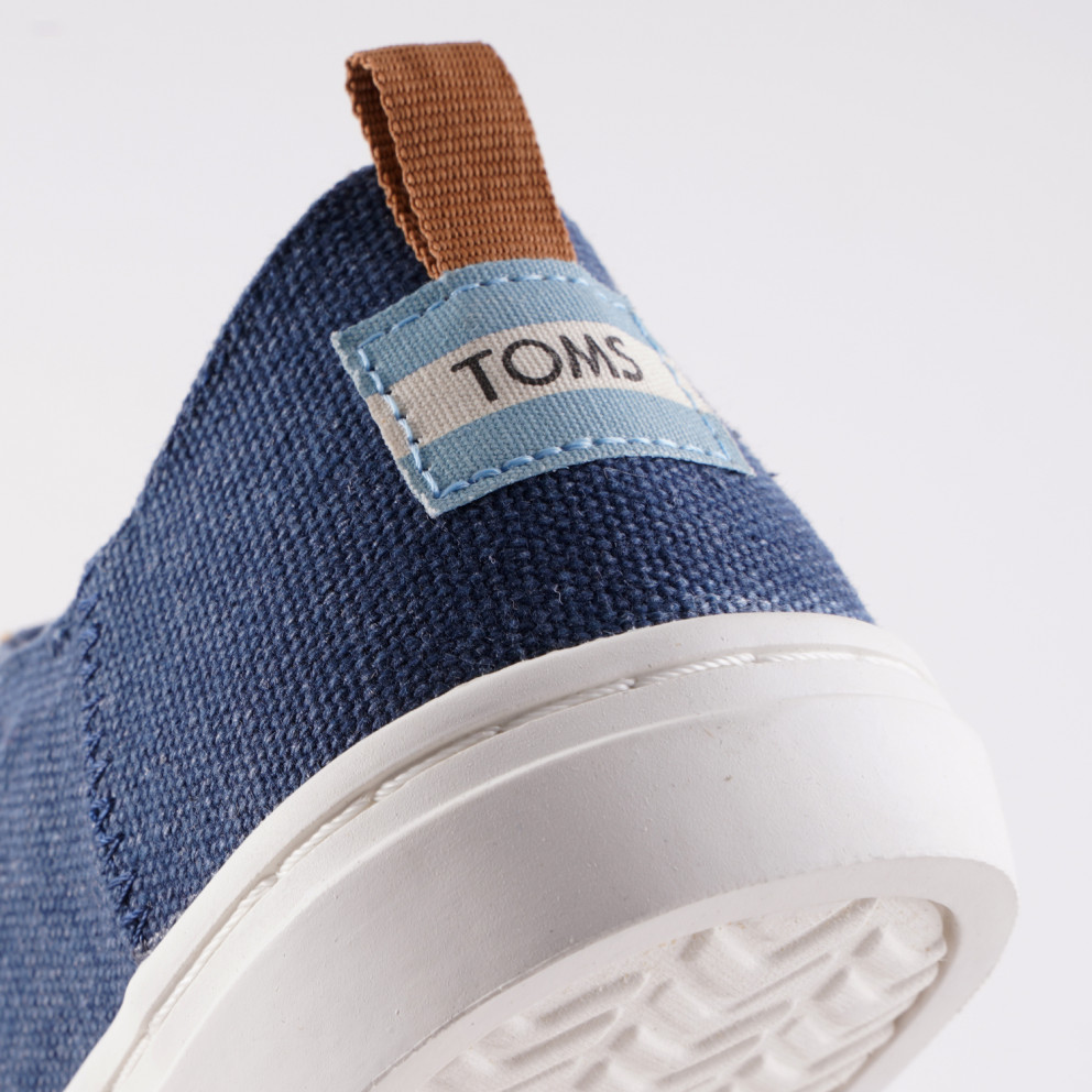 TOMS Navy Washed Canvas Lenny Sneak Kid' Shoes