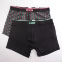 Levi's Men's 2-Pack Logo Stripe AOP Boxer Brief