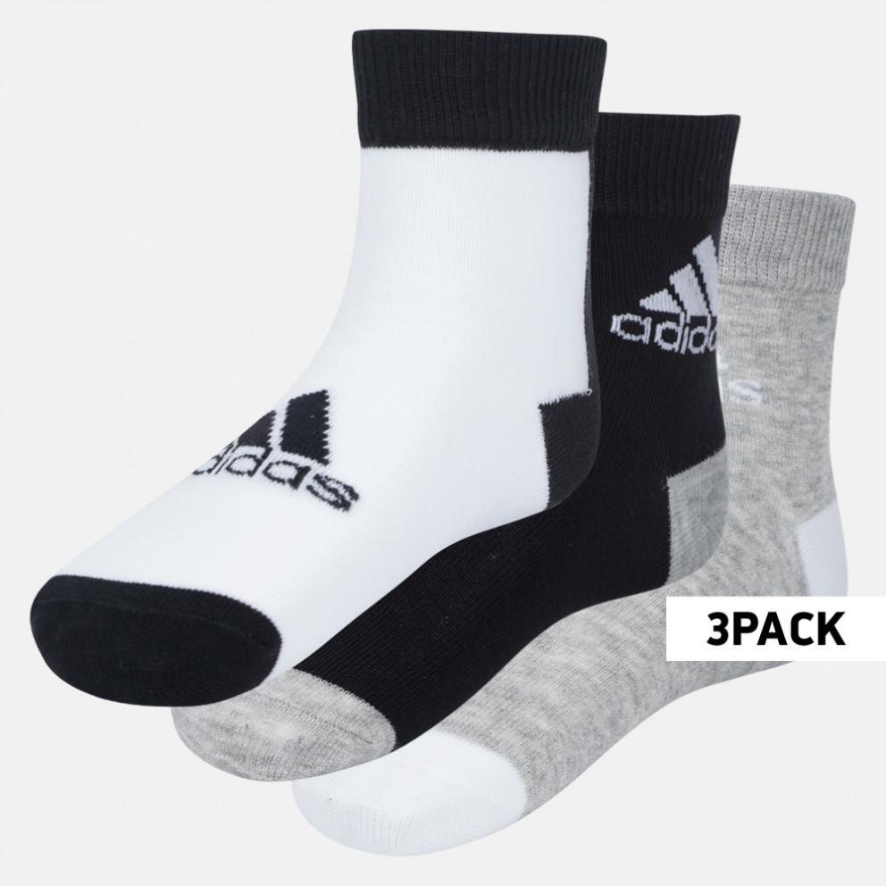 adidas Performance 3-Pack Kids' Ankle Socks