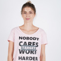 "Target T Shirt Maκρυ Καλτσα Φλαμα ""work Harder"""
