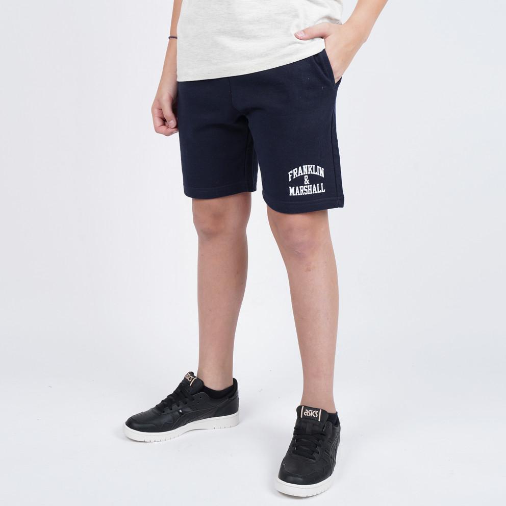 Franklin & Marshall Badge Logo Sweat Shorts   Παιδικό Σορτς
