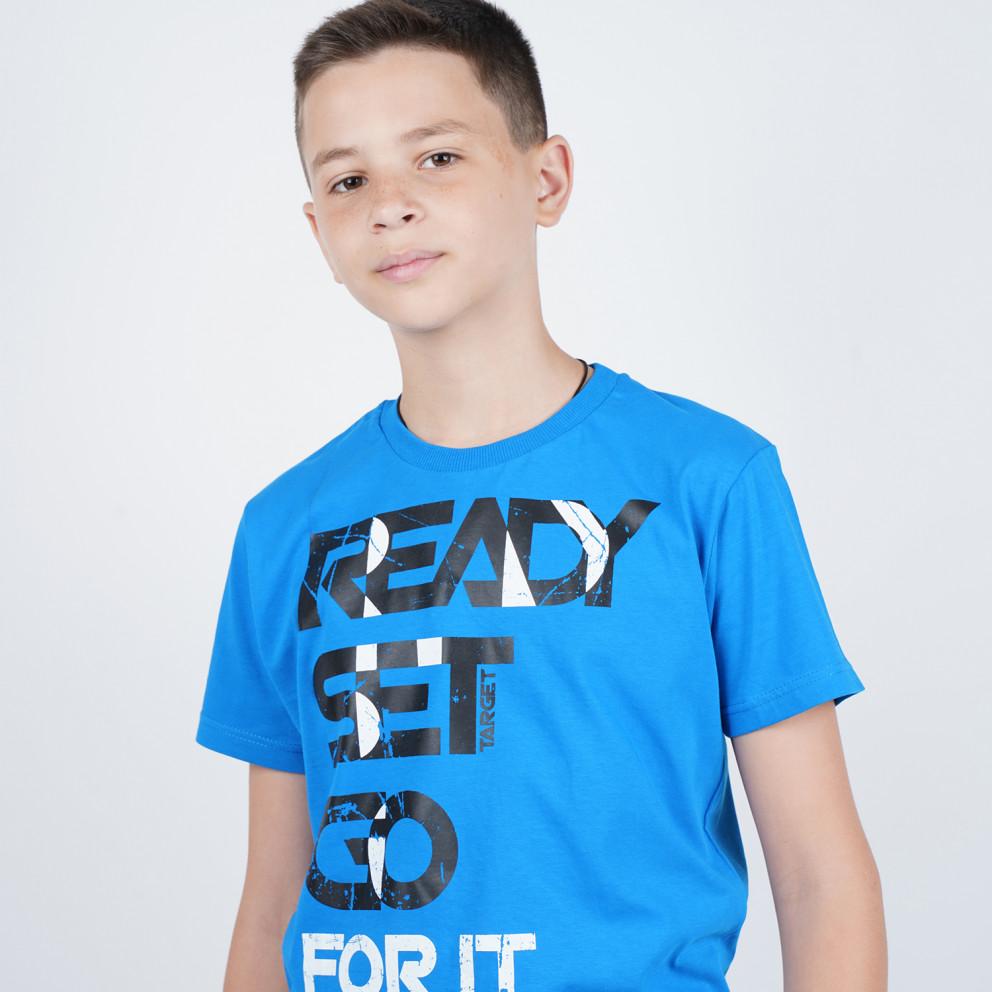 Target Παιδικο Σετ T-Shirt Βερμουδα ''Ready Set Go
