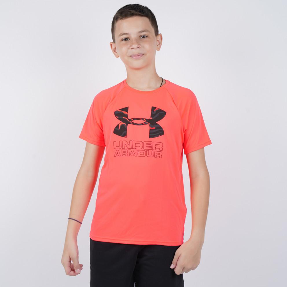 New Under Armour Boys/' Hybrid Print Fill Logo Tech T-Shirt Choose Size