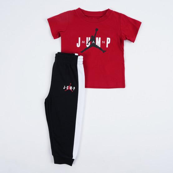 Jordan Jdb Jump Ss Tee And Jogger Kids' Set