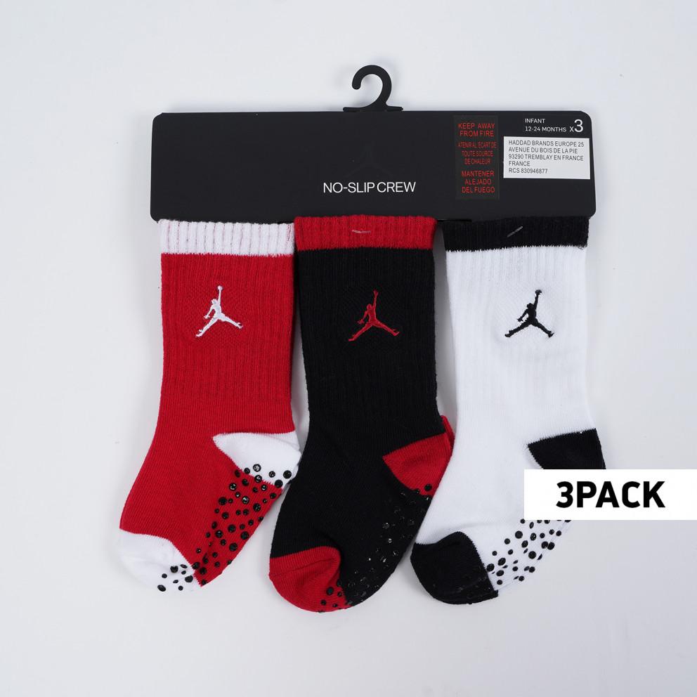 Jordan Speckle Infant/Toddler Crew 3Pk Kids' Socks