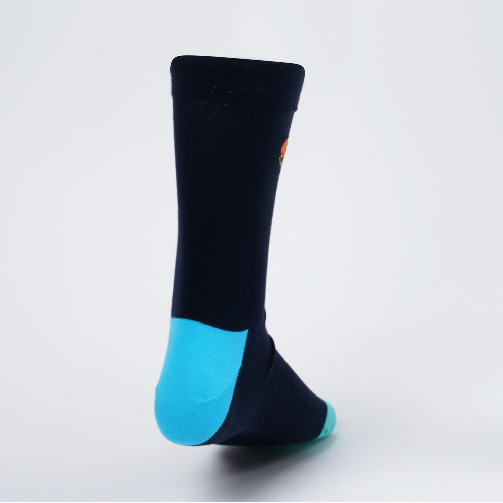 Happy Socks Embroidery Hamburger Sock