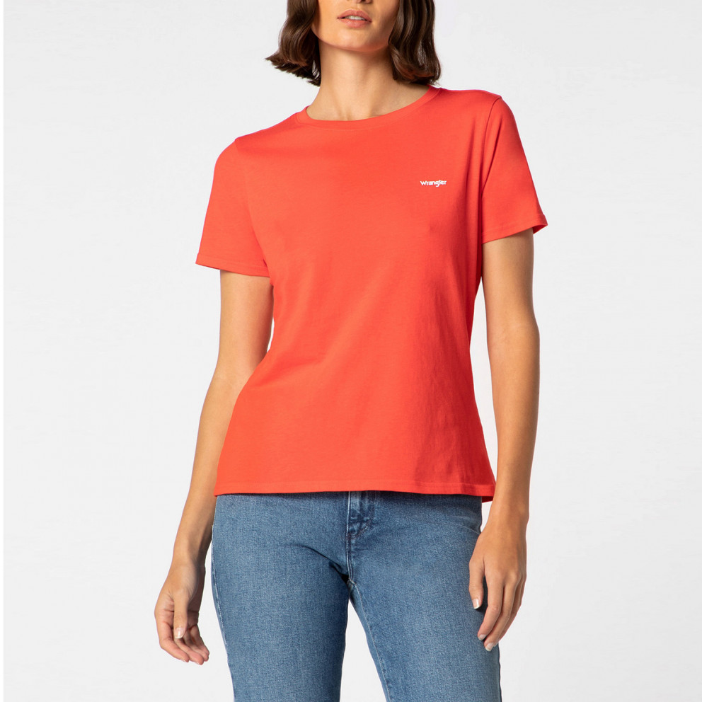Wrangler Sign Off Tee Bittersweet Red Γυναικεία Μπλούζα