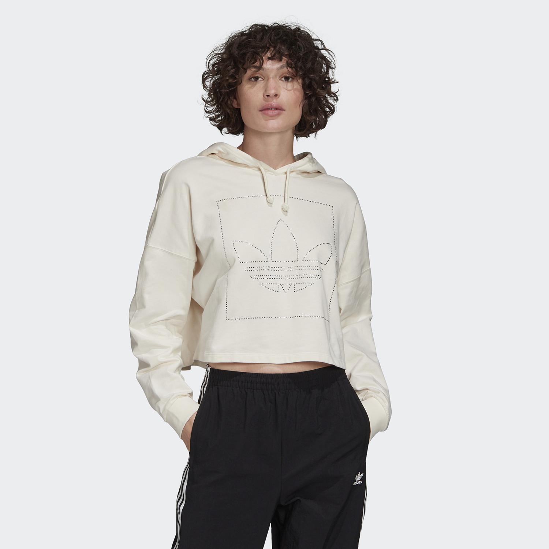 adidas Originals Crop Hoodie Γυναικεία Μπλούζα (9000059551_7667)
