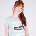 "Target T Shirt K/M Καλτσα Φλαμα  ""Work Harder"" Γυναικεία Μπλούζα"