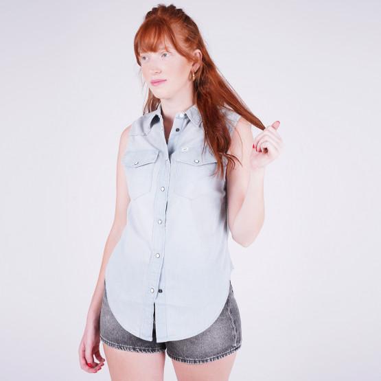 Lee Sleeveless Shirt Sterling Blue
