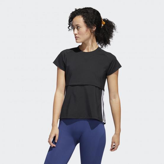 adidas Performance 3-Stripes Γυναικείο Μπλουζάκι