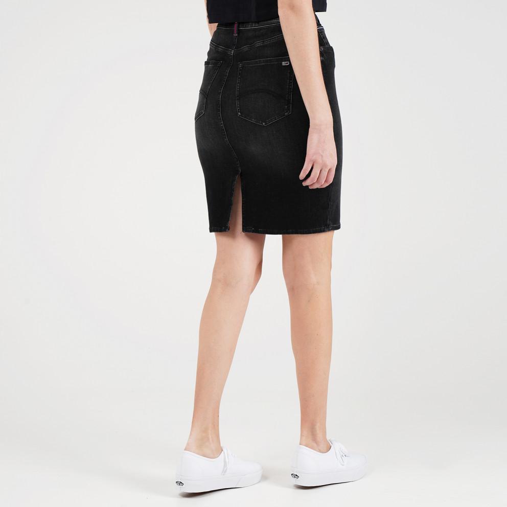 Tommy Jeans HIGH WAIST DENIM SKIRT DYABK