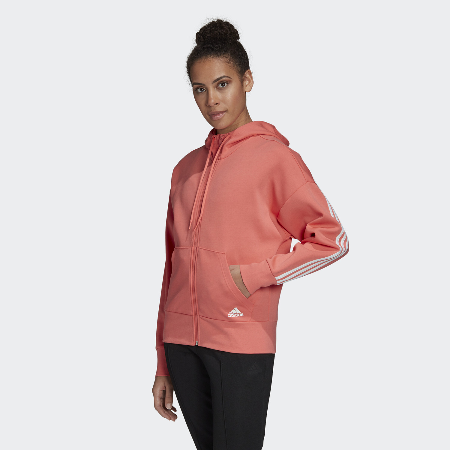 adidas Performance 3-Stripes Doubleknit Full-Zip Scuba Γυναικεία Ζακέτα (9000060219_34272)