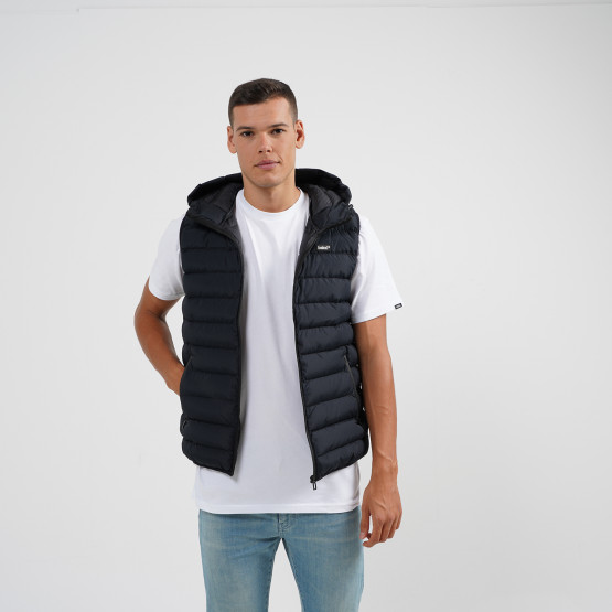 Body Action Men Zip-Through Quilted Vest With Hood