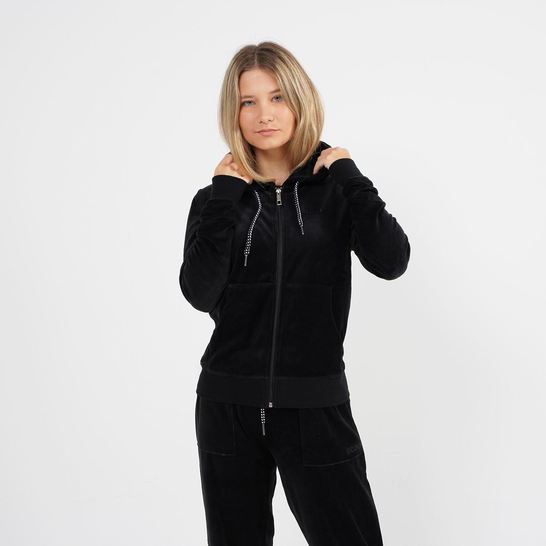Body Action Women Velour Hoodie Jacket (9000064115_1899)