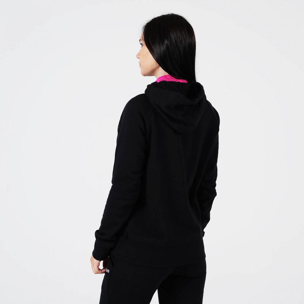 Body Action Fleece Γυναικεία Ζακέτα με Κουκούλα