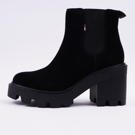 Tommy Jeans Essential Suede Mid Heel Women's Boots