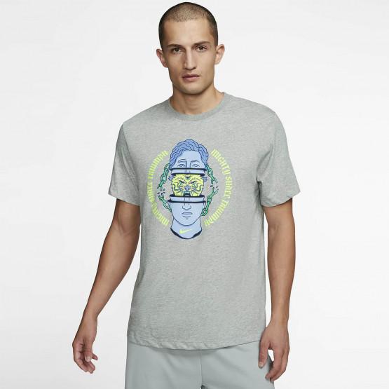 Nike Dri-FIT Ανδρική Κοντομάνικη Μπλούζα για Προπόνηση