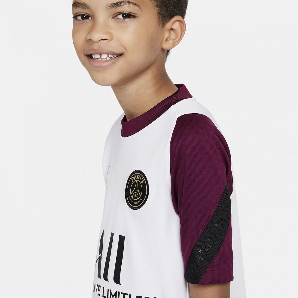 Nike Paris Saint-Germain Strike Older Kids' Short-Sleeve Football Top