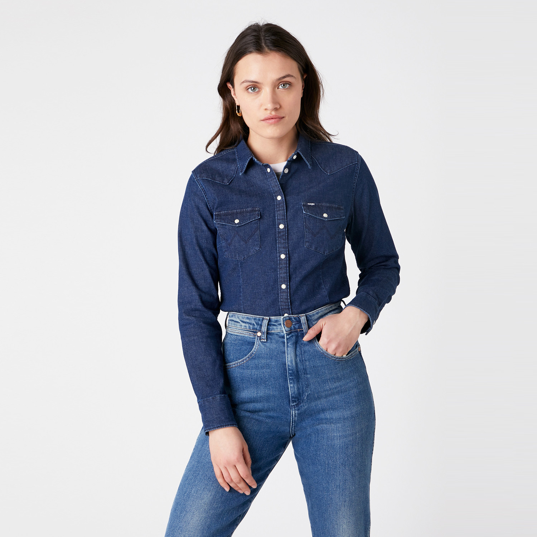 Wrangler Slim Western Shirt Γυναικείο Πουκάμισο (9000066753_8353)