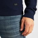Lee Basic Textured Crew Ανδρική Πλεκτή Μπλούζα