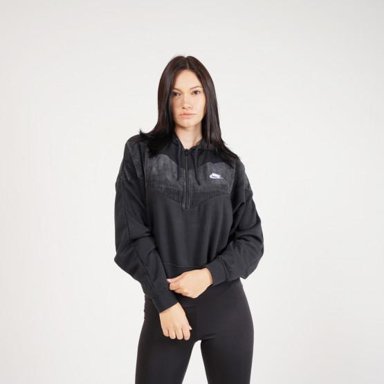 Nike Sportswear Heritage Βελουτέ Γυναικείο Φούτερ