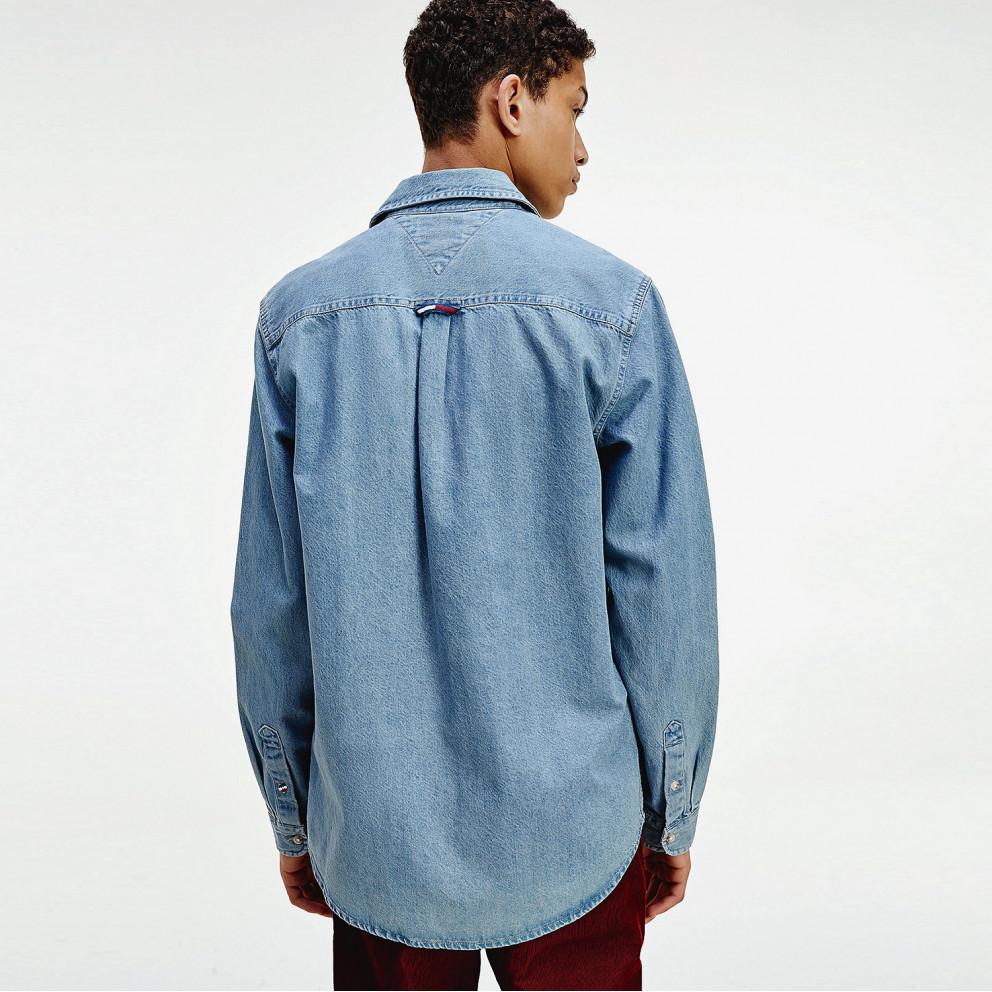 Tommy Jeans Men's Denim Badge Shirt