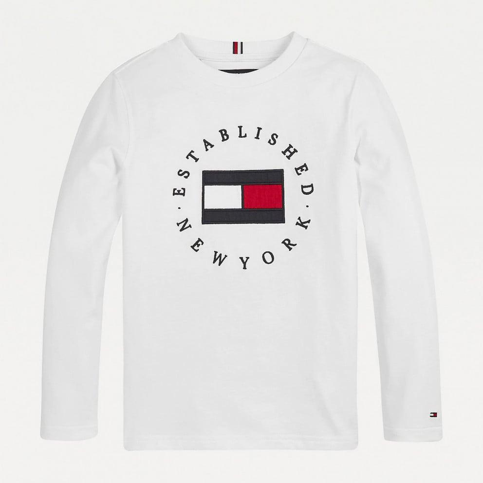 Tommy Jeans Heritage Logo Kids' Long Sleeve Tee
