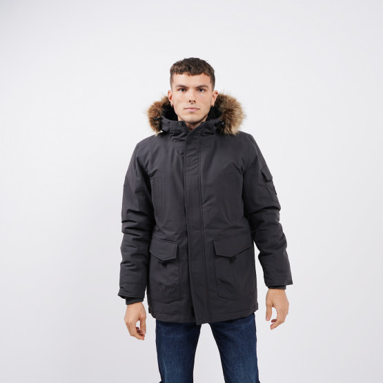 Emerson Men's Long Jacket with Fur on Hood