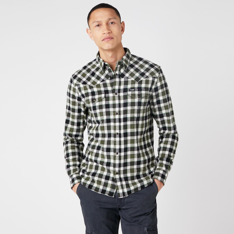 Wrangler Ls Western Shirt Absinthe Green (9000066714_49505)