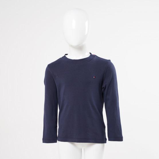 Tommy Jeans Solid Rib Παιδική Μπλούζα με Μακρύ Μανίκι