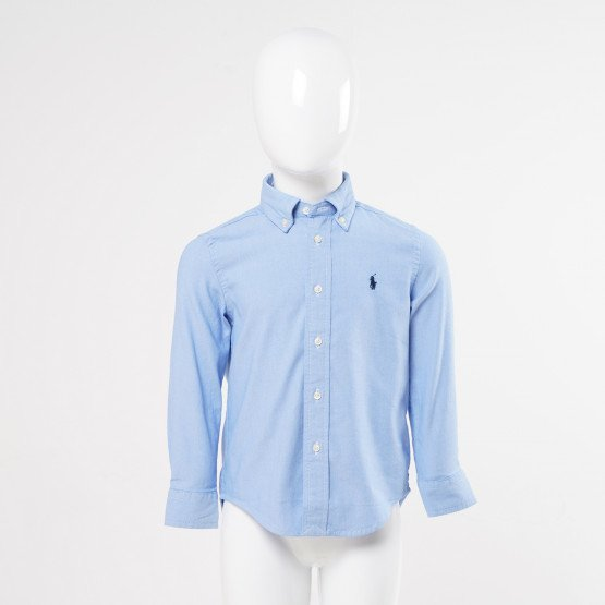 Polo Ralph Lauren Slim Striped Oxford Παιδικό Πουκάμισο