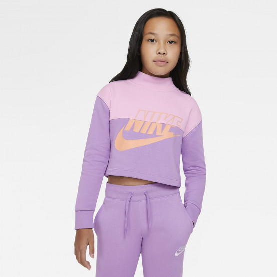 Nike Sportswear Cropped French Terry Παιδική Μπλούζα