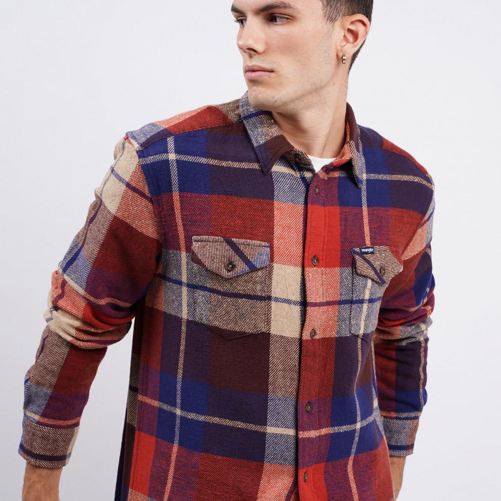 Wrangler Ls 2Pkt Flap Shirt Patriot Blue
