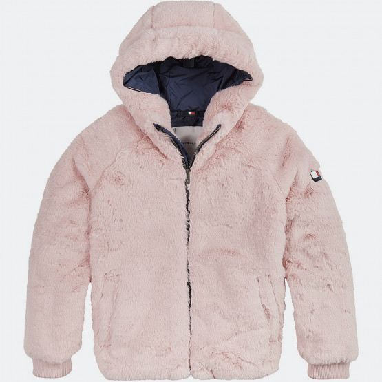 Tommy Jeans Kids' Fake Fur Jacket