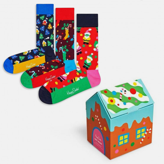 Happy Socks 3-Pack Holiday Κάλτσες Gift Set