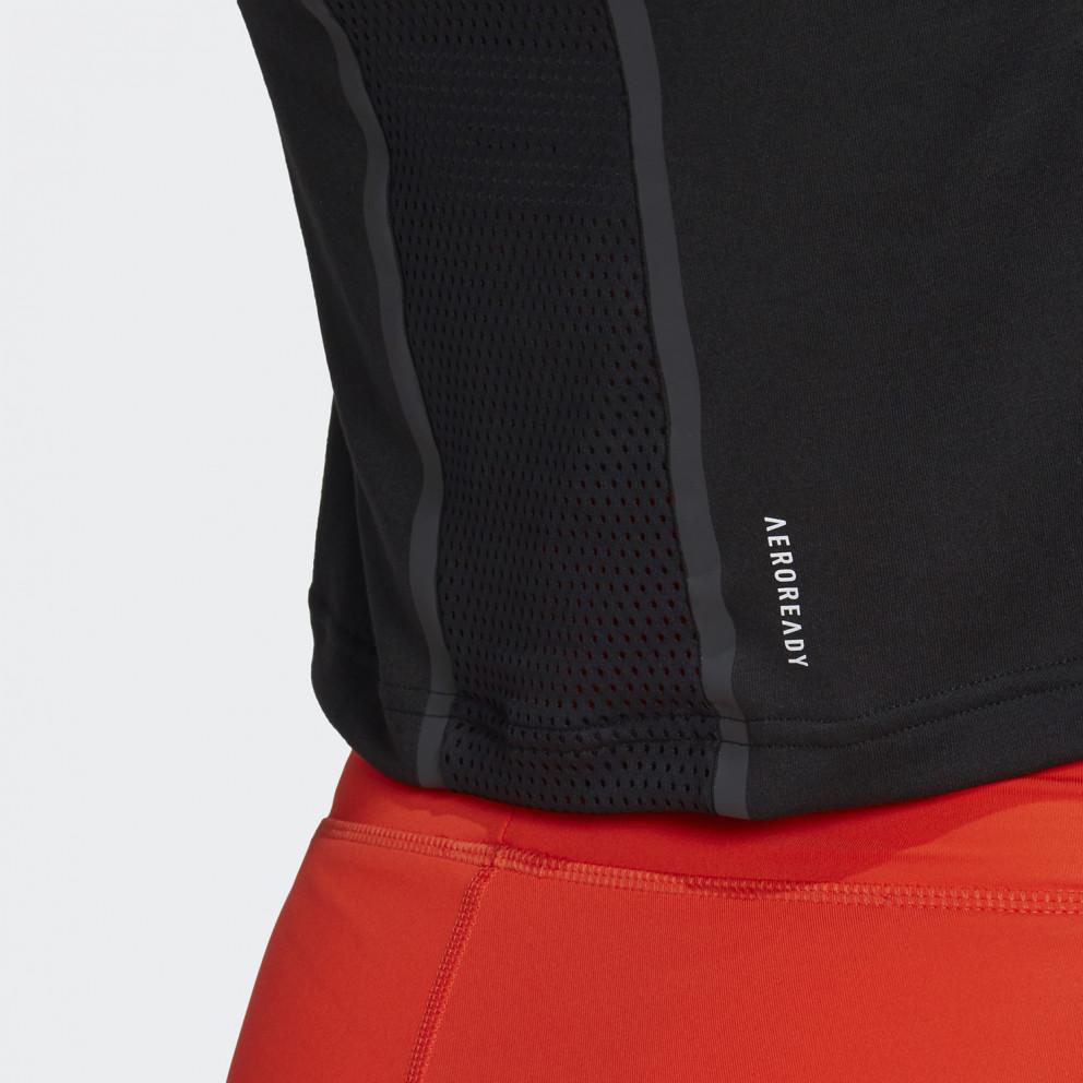 adidas Performance Crop Karlie Kloss Fitness Γυναικείο Μπλουζάκι