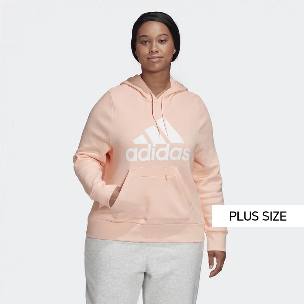 adidas Performance Badge of Sport Plus Size Γυναικεία Μπλούζα με Κουκούλα (9000058801_34210)