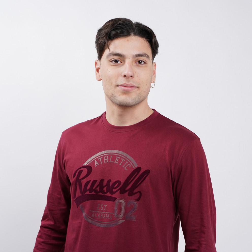 Russell Logo Ανδρική Μπλούζα με Μακρύ Μανίκι