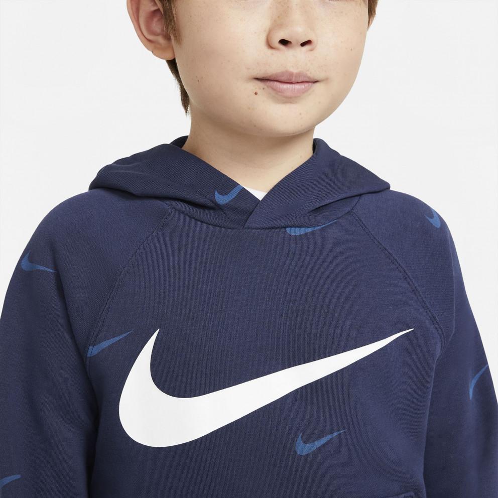 Nike Sportswear Swoosh Παιδική Μπλούζα με Κούκουλα