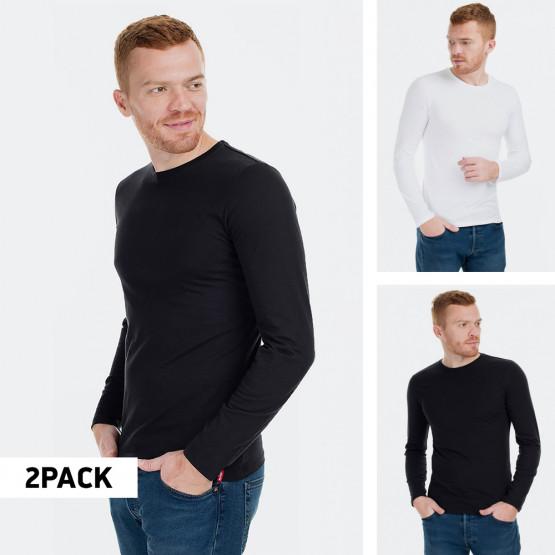 Levi's Crewneck LS 2 Pack Ανδρικές Μακρυμάνικες Μπλούζες