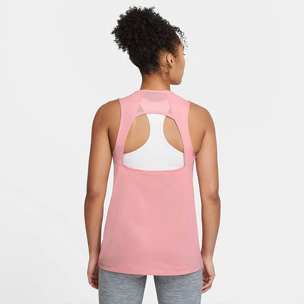 Nike Pro Γυναικείο Αθλητικό Αμάνικο Μπλουζάκι