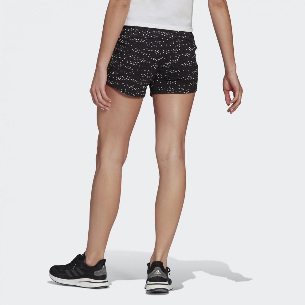 Γυναικείο Adidas Sportswear Badge Of Sport  Allover-Printed  Shorts