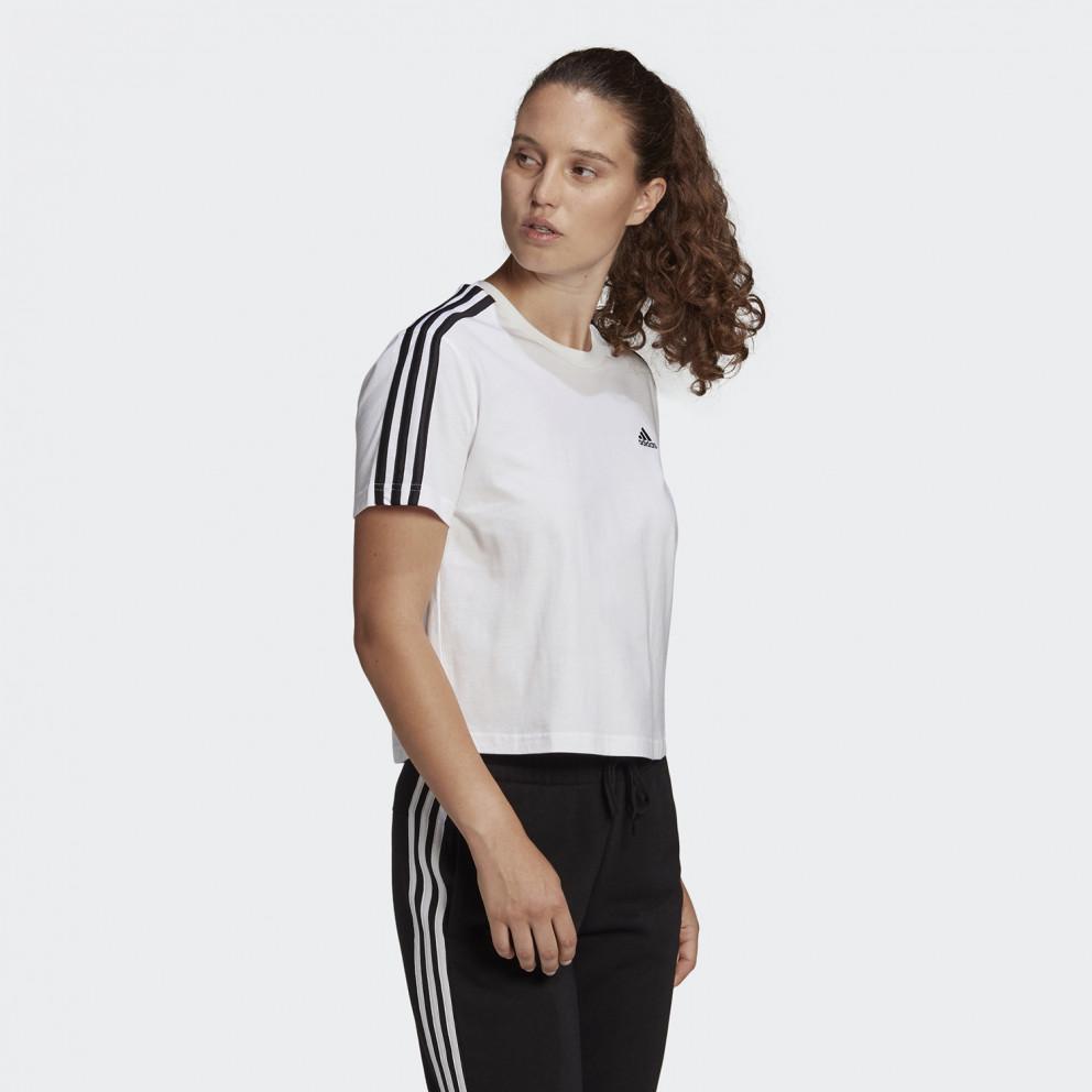 Essentials Loose 3-Stipes Γυναικείο Crop T-shirt