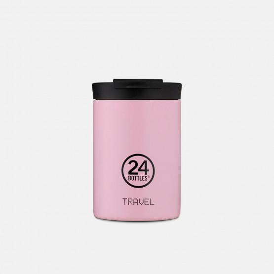 24Bottles Travel Tumbler Candy Pink Ανοξείδωτο Ποτήρι Θερμός 350ml